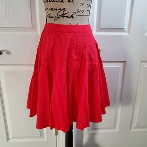 Body by Victoria red aline skirt size 10